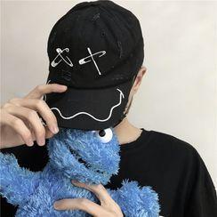 Shineon Studio - 刺繡別針做舊棒球帽