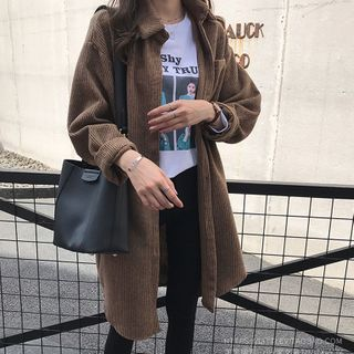 FUEMA - Corduroy Button-Up Coat