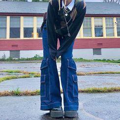 Puffie - Boot-Cut Cargo Jeans