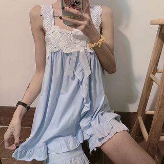 Sisyphi - Pajama Set: Sleeveless Top + Shorts