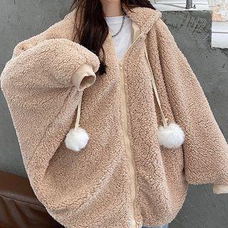 Pickxy(ピックシー) - Hooded Rabbit Ear Accent Fleece Zip-Up Jacket