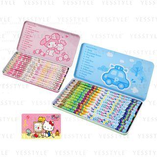 Sanrio - 12 Color Pencils - 3 Types