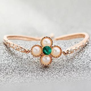 Trend Cool - Jeweled Clover Bracelet