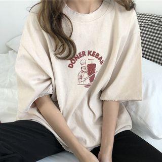 Dute - Print Crewneck T-Shirt