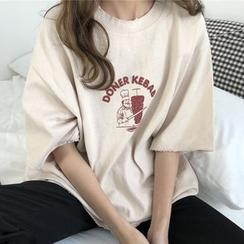 Dute - Camiseta estampada de cuello redondo