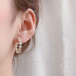 LIVSIA - 水鑽開口圈環耳環