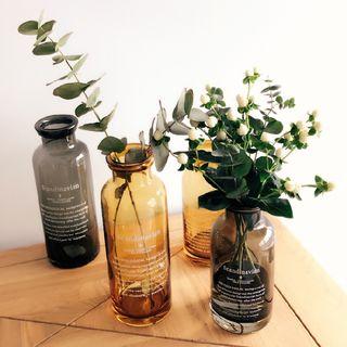 Beaucup - Lettering Glass Bottle / Vase