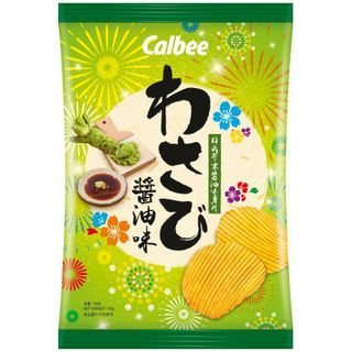 Calbee - [Limited] Wasabi Shoyu Flavored Potato Chips 70g