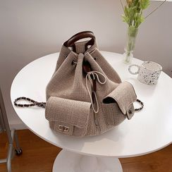 BAGSHOW - 帆布抽绳包