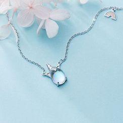 A'ROCH - 925纯银饰珠独角兽吊坠项链