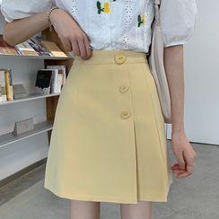 Shinsei - Plain Mini Skirt