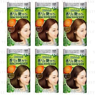 Kao - Blaune Aroma & Gloss Color Cream 40g x 2 - 11 Types
