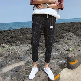 Macho - Plaid Harem Pants