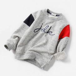 Happy Go Lucky - Kids Paneled Sweatshirt