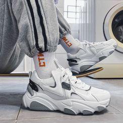 YERGO - Lace-Up Platform Sneakers