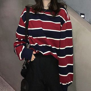Moon City - Striped Pullover