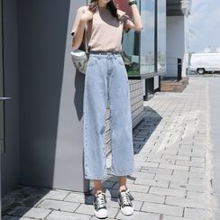 Luminato - Cropped Wide-Leg Jeans