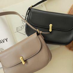 CLICK - Push-Lock Flap Shoulder Bag