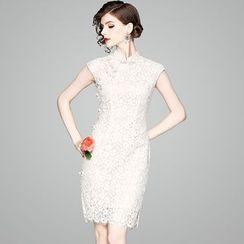 欧依潮派 - 亲子装蕾丝盖袖旗袍