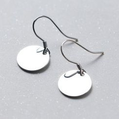 A'ROCH - 925 Sterling Silver Disc Drop Earring