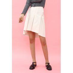 SIMPLY MOOD - Reversible Asymmetric Pleated Skirt
