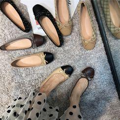 POPOW - 插色蝴蝶結平跟鞋