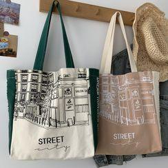 kissogram - Two-Tone Printed Tote Bag