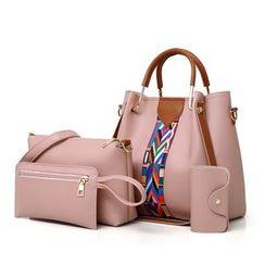 Auree - 套裝: 仿皮手提包 + 斜挎包 + 手包 + 卡套