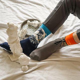 QUICKSOOX - Couple Printed Socks