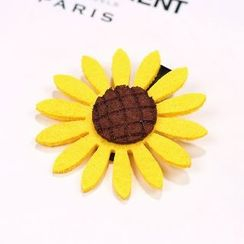 Annamae - Sunflower-Accent Hair Tie/Hair Clip/Brooch