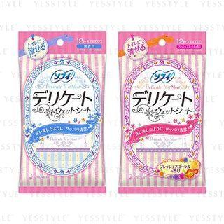 Unicharm - Sofy Delicate Wet Tissue 12 pcs - 2 Types