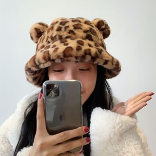 Birravin - 小熊毛毛漁夫帽