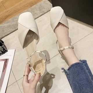 Novice(ノバイス) - Chunky Heel Faux Pearl Strap Sandals