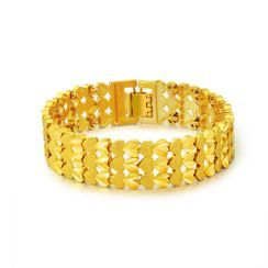 BELEC - Fashion Domineering Plated Gold Geometric Bracelet
