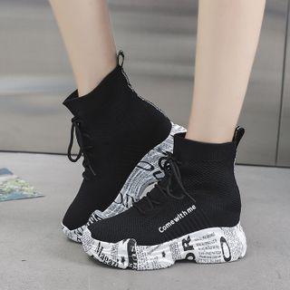 Vindler Platform High-Top Sock Sneakers