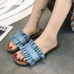 MANMANNI - Ruffle Trim Sandals