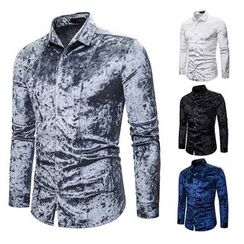 Fireon - Long-Sleeve Velvet Shirt