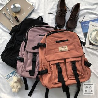 Chestnut Party - Buckled Backpack