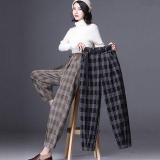 Jeonseon - 格子哈伦西裤