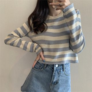Moon City - Striped Knit Top