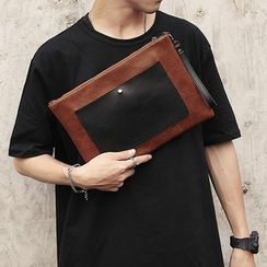 BagBuzz(バッグバズ) - Color Block Faux Leather Clutch