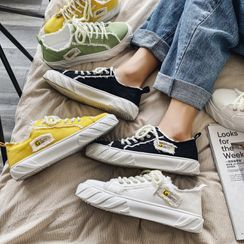YERGO - 帆布厚底休閒鞋