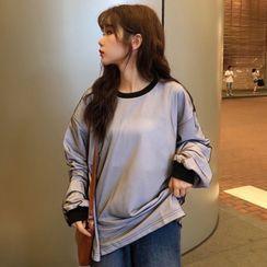 Gilmort - Sheer Panel Pullover