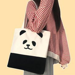 Yongolia - Panda Print Canvas Tote Bag
