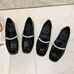 Novice(ノバイス) - Faux Pearl Loafers
