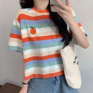 Dreamkura - Short-Sleeve Striped T-Shirt