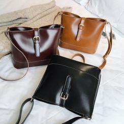 Perlin - Faux Leather Zip Crossbody Bag