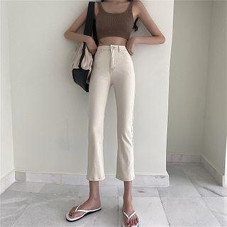 Attune - 高腰修身宽腿裤