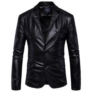 Sheck - Faux-Leather Blazer