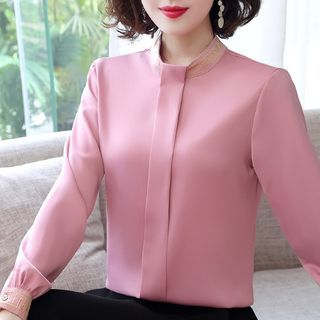 In the Mood - Embroidered Chiffon Blouse